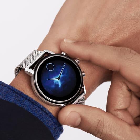 movado smartwatch interface