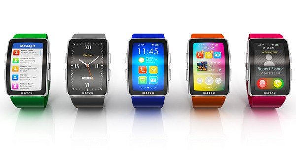 Cheap smartwatches on display