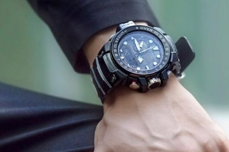 man with tactical watch